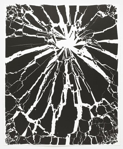 Untitled, Broken Glass Painting
