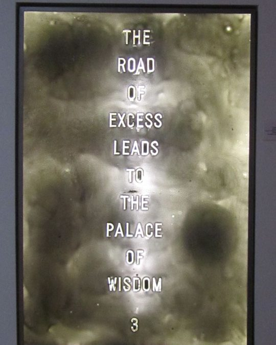 Road of Excess Leads to Palace of Wisdom